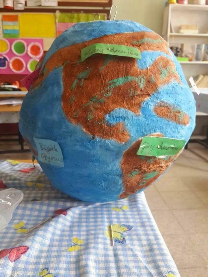 Dünya Modeli Dünyanin Katmanlari Strafor Top Strafor Küre