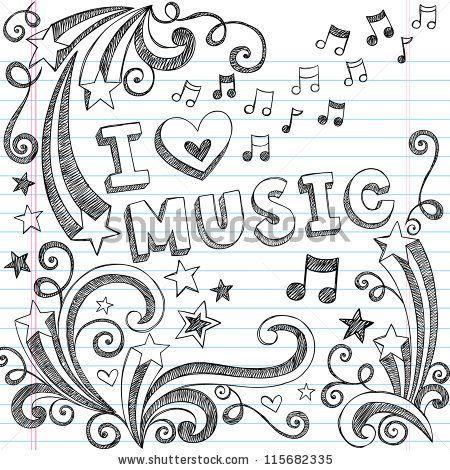 Doodle Art Music Thpho Com Stock Photos Vectors Notebook Kritzeleien Kritzeln Kunst Niedliche Zeichnungen