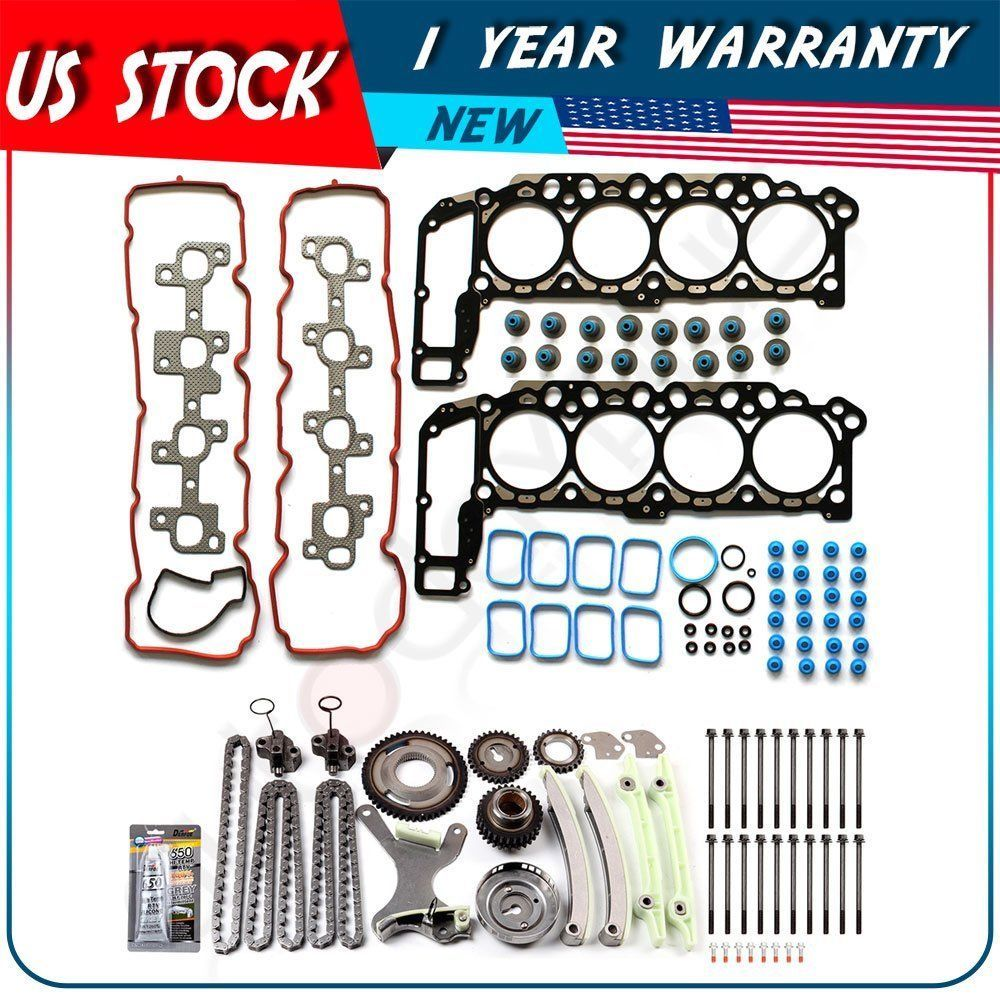 Head Gasket Set /& Timing Chain Kit Fits 1999-2000 Ford Mustang 4.6L GAS SOHC