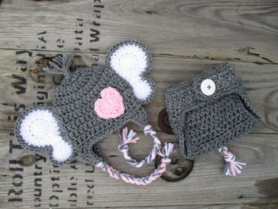 Crochet Elephant Baby Outfit Newborn Baby Photo Prop | fantasia bebe ...