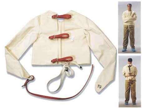 Humane Medical Restraint Straightjacket w/ Crotch Strap | Shackles ...