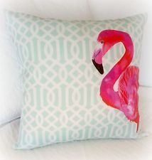 RELAXED FLAMINGO Cushion Cover-Indoor Outdoor Home Decor -new