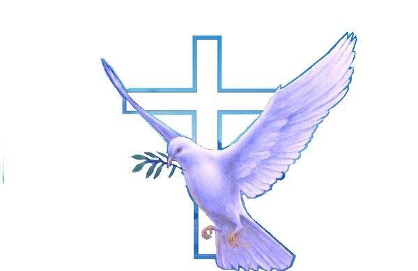 Colombe croix verset vangile versets et image biblique - Image religieuse gratuite a imprimer ...