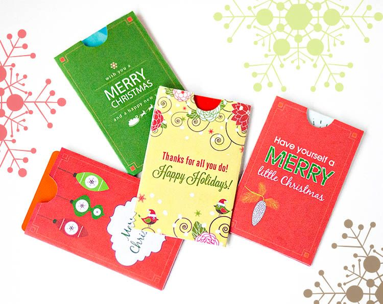 Photo of Free Holiday Gift Card Holder Printables