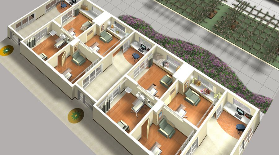 Axon Plan Featuring Private Patient Rooms in NICU
