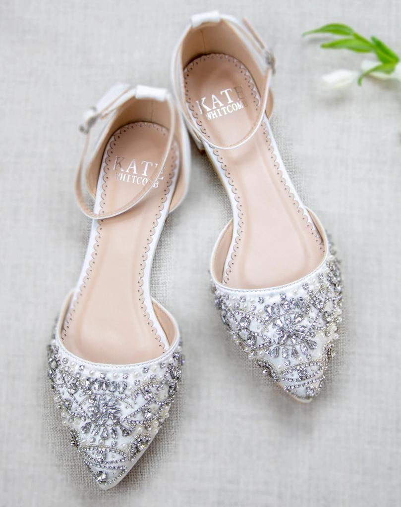 Madison Ivory Bridal Shoes Pearl and Rhinestone in 2020