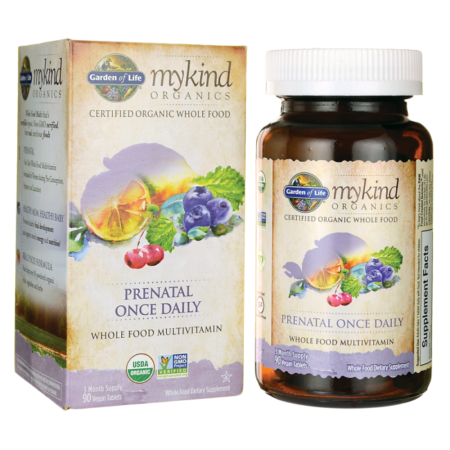 Garden of Life Mykind Organics Prenatal Once Daily Whole