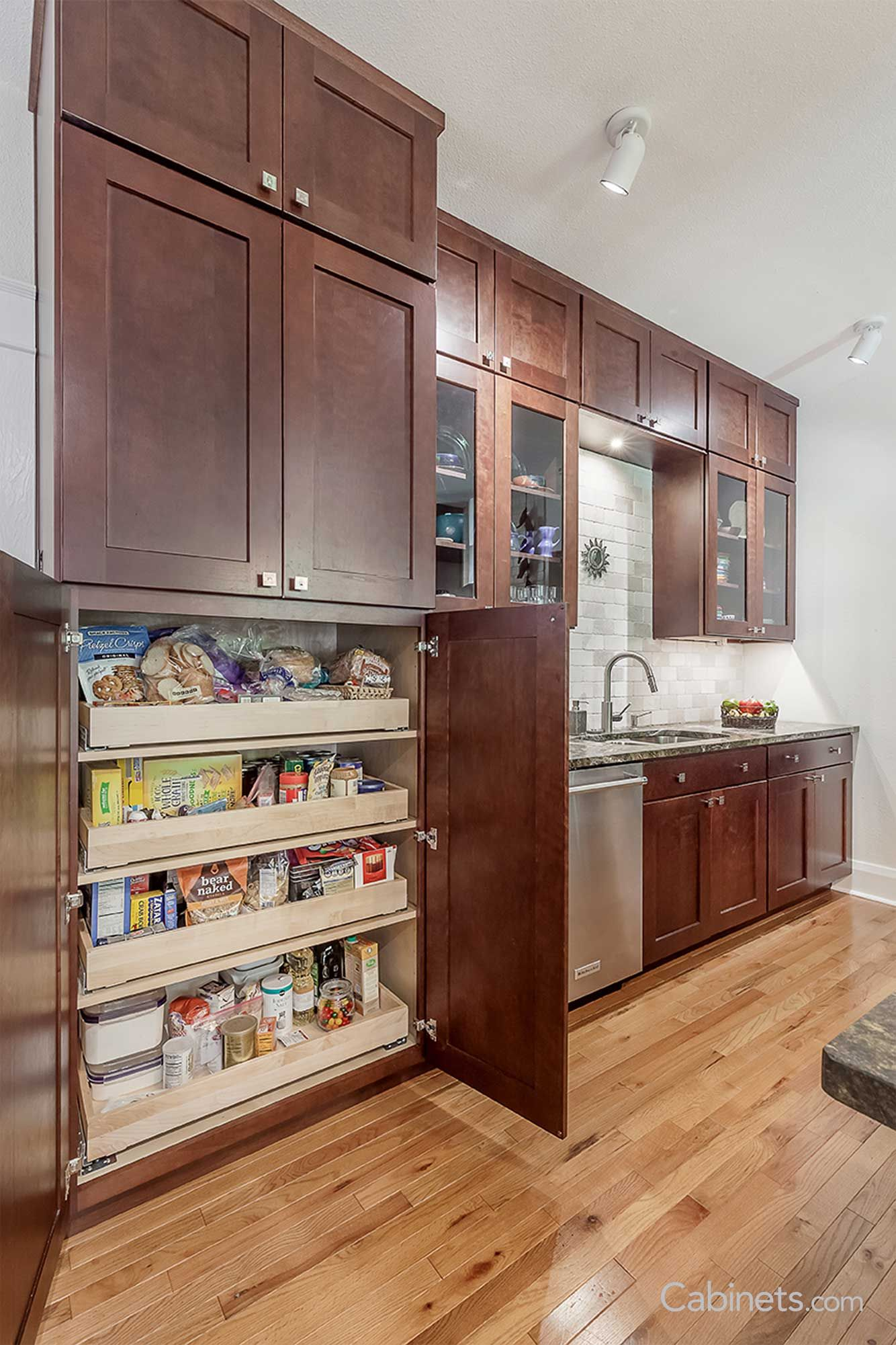 Don T Sacrifice Style For Storage Tall Pantry Cabinets Are A Great Option For All Your Online Kitchen Cabinets Shaker Style Kitchen Cabinets Kitchen Cabinets