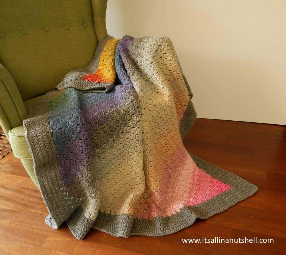 Corner to Corner Ombre Blanket | Colcha de ganchillo, Colchas y ...