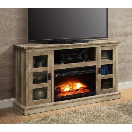 Whalen Media Fireplace Console for TVs up to 70 inch Weathered