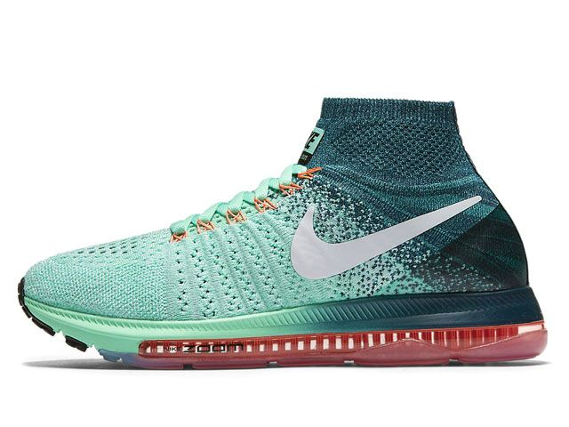 d562d3d80def0 Nike Wmns Air Zoom All Out Flyknit Green Glow Midnight Turquoise Bright  Mango (845361-300) - RMKstore