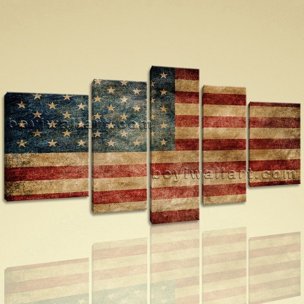 Vintage American Flag Wall Art american flag metal wall art | metal wall art, metal walls and flags