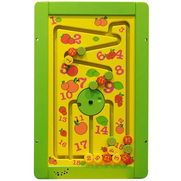 Kinderen leren met dit Spelmodule Speelwand Abacus-Wheel tellen en ...