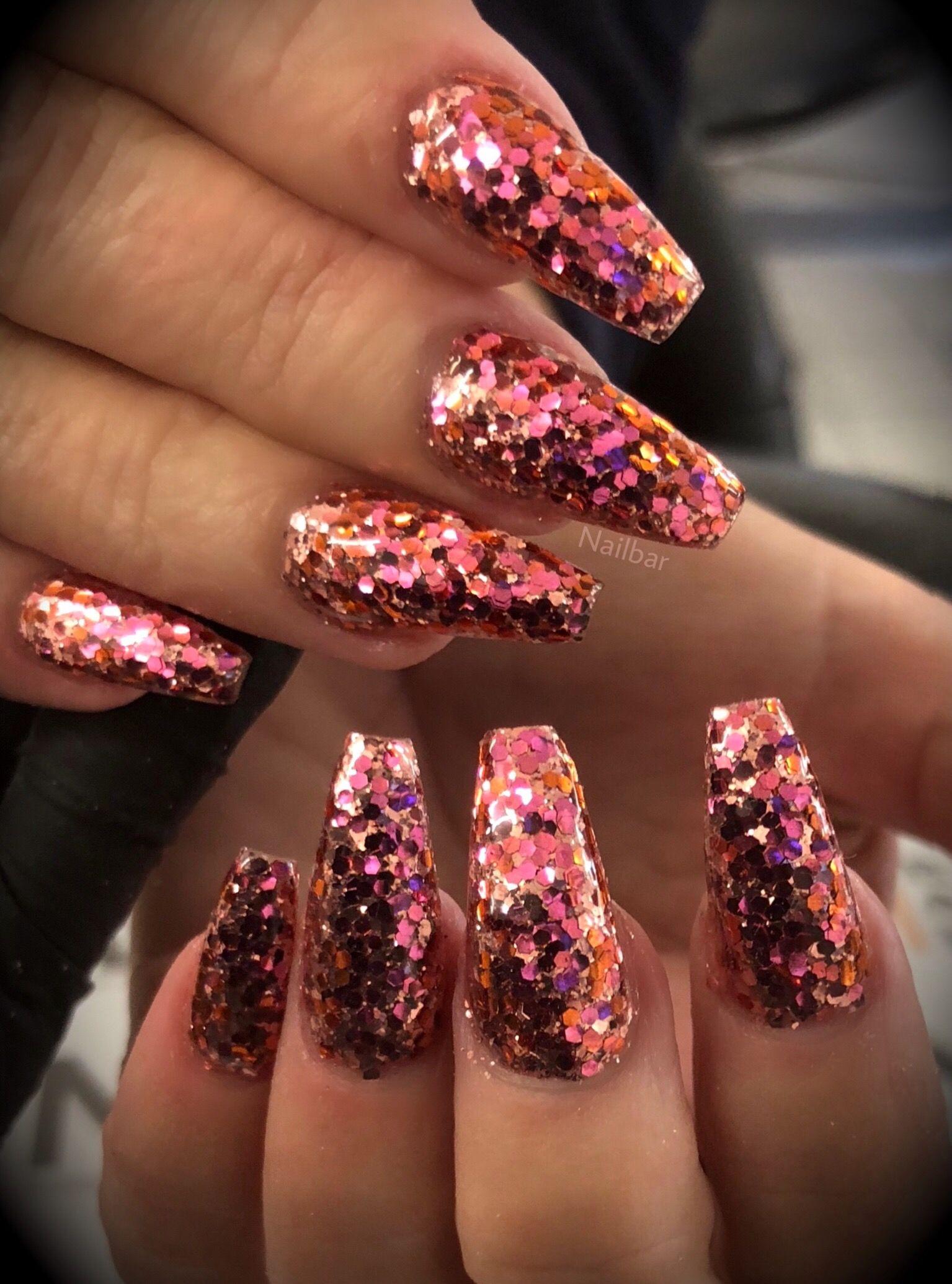 15274d30794 Sakura Chunky Glitter nails by Nail Bar Lecenté Glitters   NAILS ...
