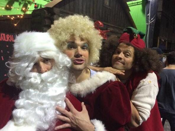 Supernatural Christmas! Jensen, Jared and Misha!