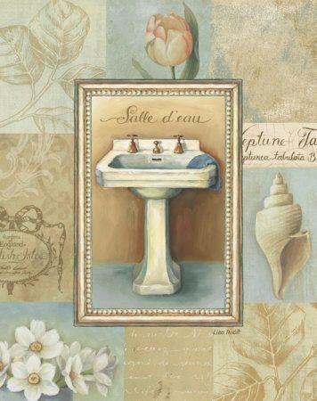 Laminas de banos vintage buscar con google pintura - Laminas decorativas para pared ...