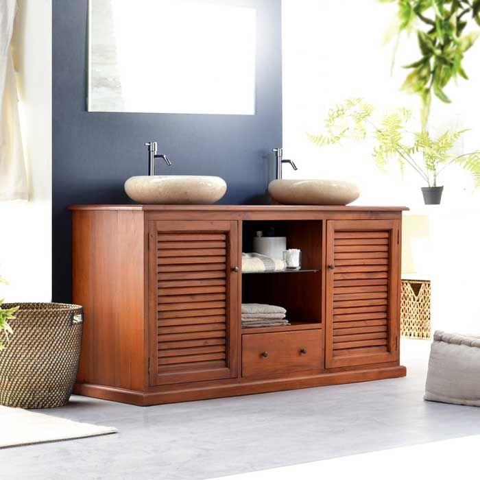 Badezimmer, Waschbeckenunterschrank Für 2 Waschbecken Rund Granit Mit  Materialien Schrank Aus Mahagoni Für Waschbeckenunterschrank Landhausstil