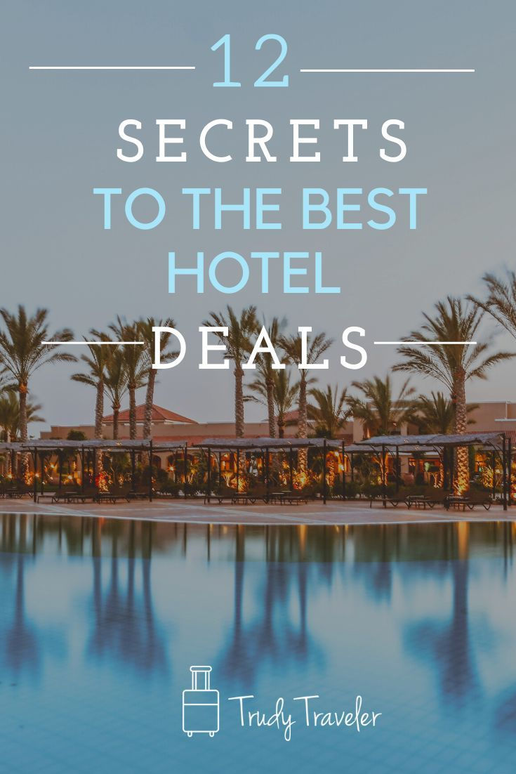 Don't Miss Out on these 12 Secrets to the Best Hotel Deals.  The cost of hotels and lodging can add up quickly.  Check out these 12 Hotel Deals to save stretch your travel budget and save money on your next trip. #saveonhotels #saveonhotelstips #savemoneyonhotels #traveltips  #travel #travelhacks