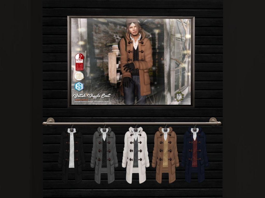 K - coat/fatpack, 240L each/735LItem 23 of 46 British Duffle Coat, mesh body compatible, 5 options available, demo available, 240L each/735L fatpack.   New Year, New Look at The Mens Dept! | Seraphim.