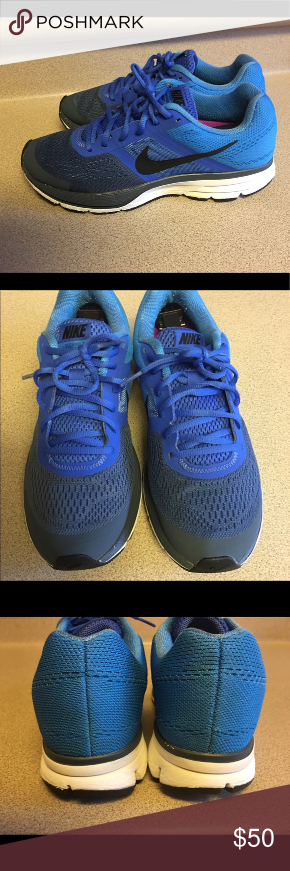 Shop Men's Nike Blue size Sneakers at a discounted price at Poshmark.  Description: Pre-owned Nike Air Pegasus + 30 Men's Running Shoes Size US M  (D) EU In ...