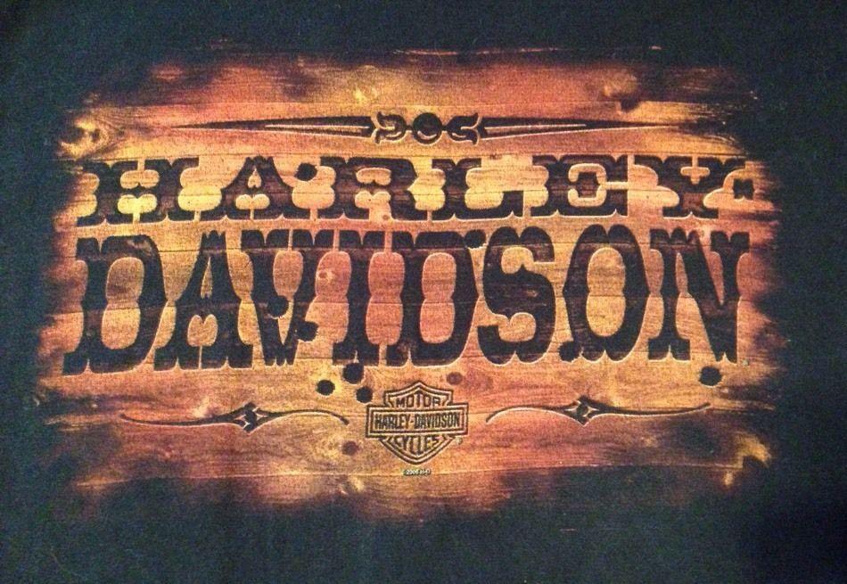 Harley Davidson Motorcycle T Shirt Dodge City Kansas Black Mens Xl