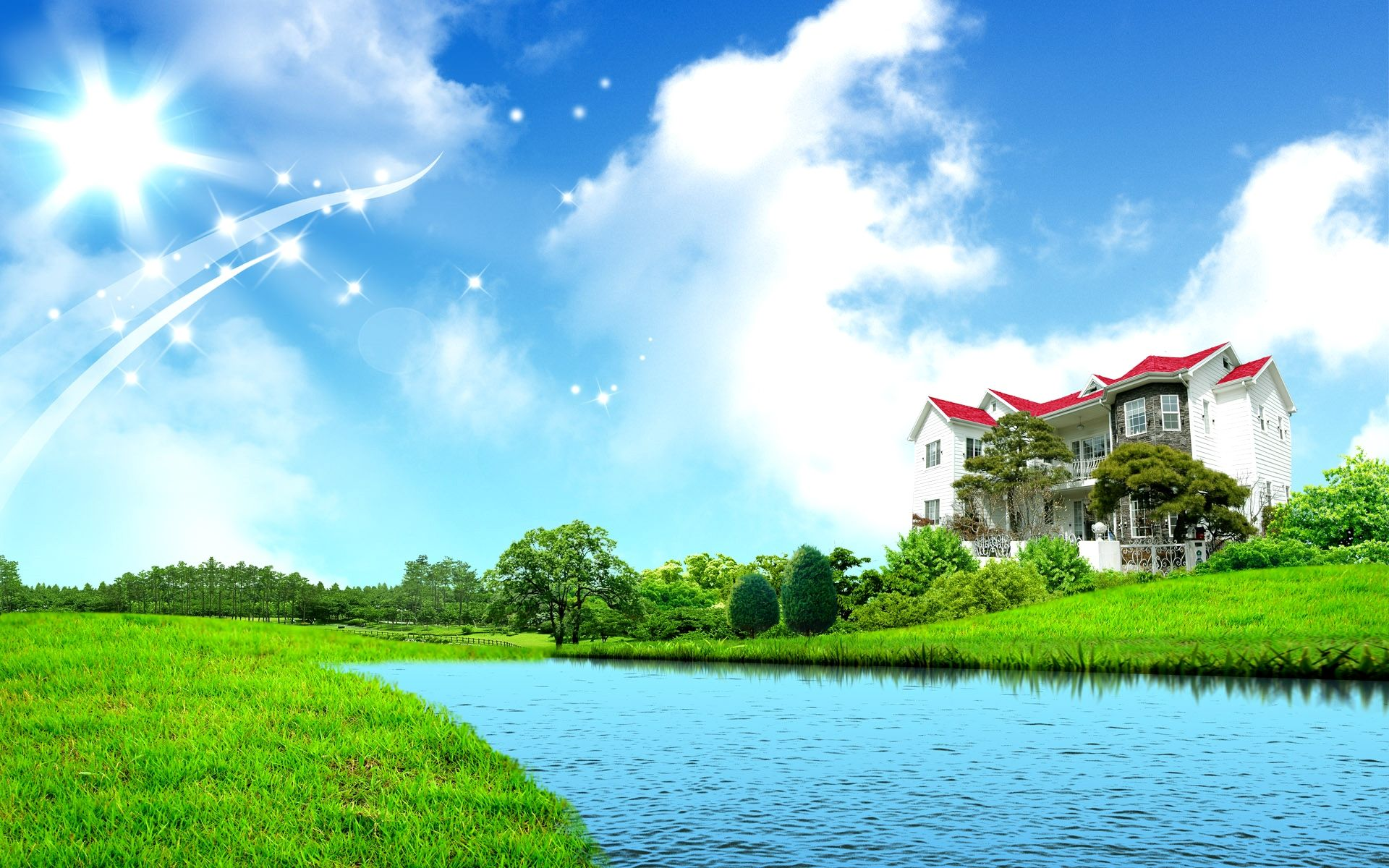 4k Wallpaper Nature House Trick Di 2020 Qur An