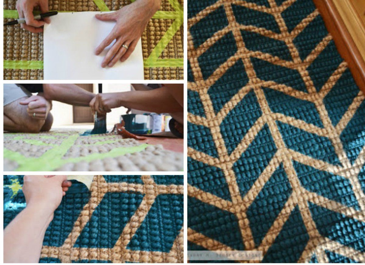 """""""Who's brave enough to give this a try? #rug #UpcycledHour #upcycle #diy"""""""