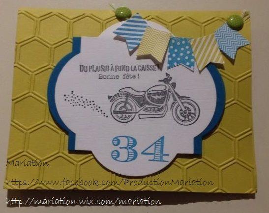 Carte Anniversaire Homme Moto