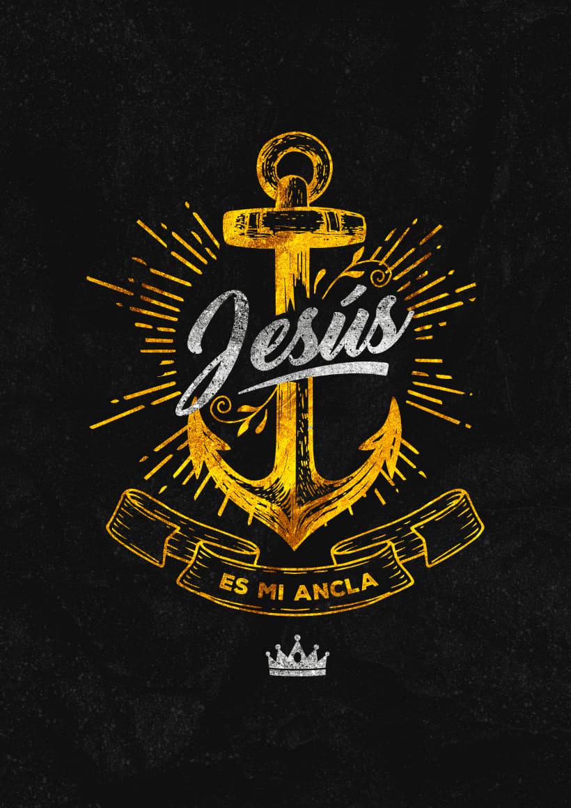 """""""Poster y  Estampado - Jesus es mi ancla"""". Un proy"""