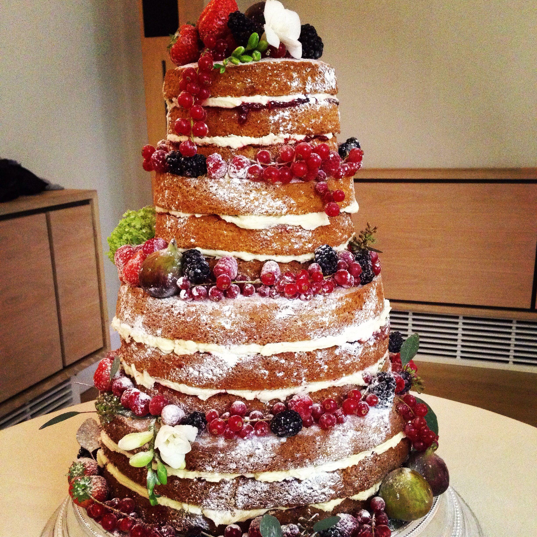 Autumn Fruit Victoria Sponge Wedding Cake