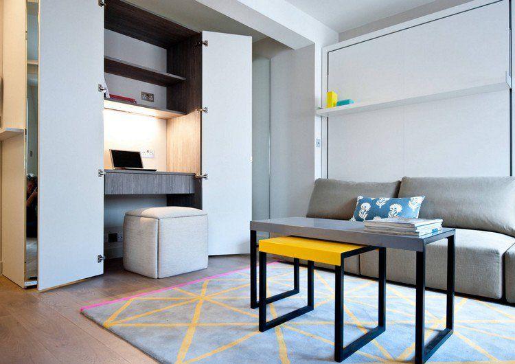 Aménagement bureau maison compact et fonctionnel small and