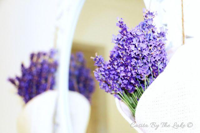 Casita By The Lake: Lavender Pew Cones