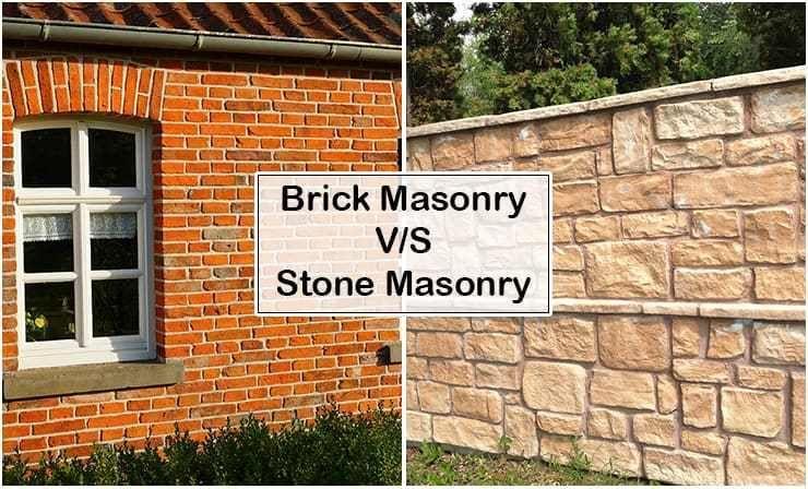 Brick Masonry Vs Stone Masonry Brick Masonry Brick And Stone Stone Masonry