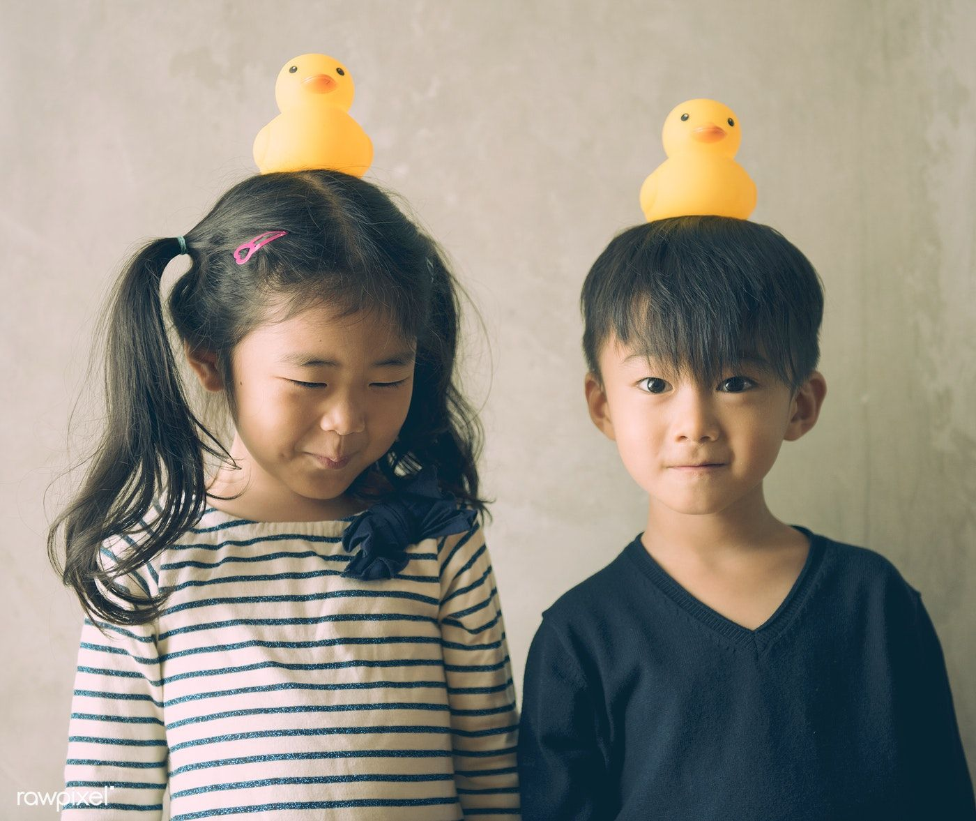 Download premium image of Japanese kids with rubber