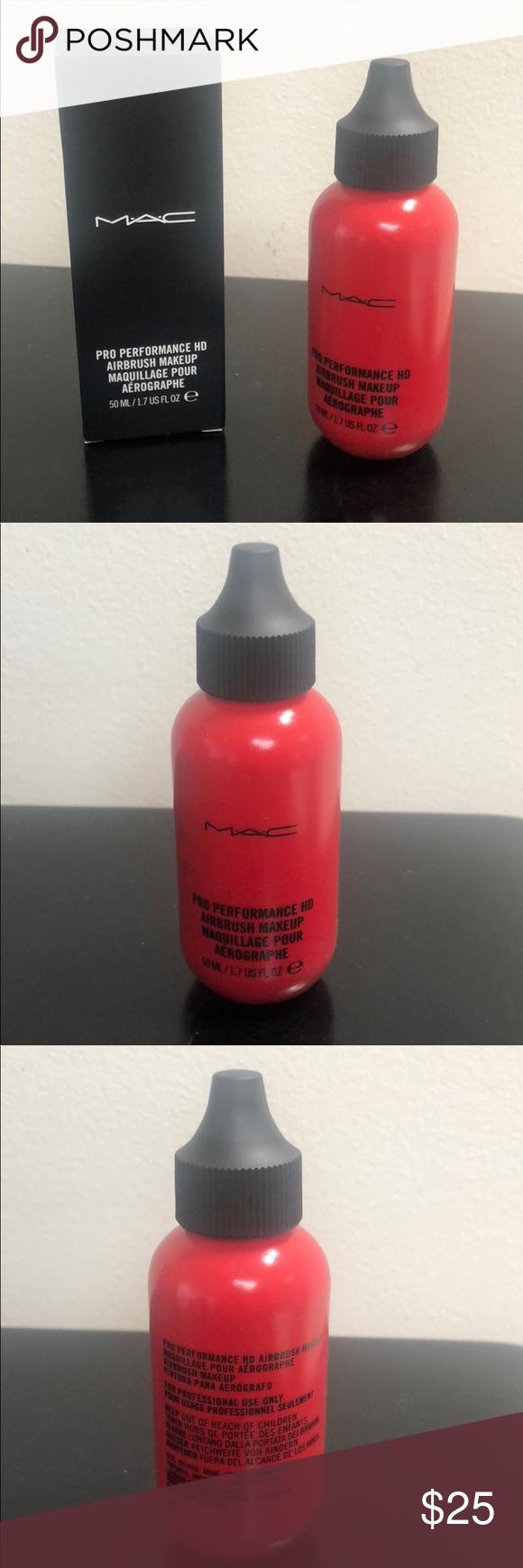 MAC Pro Performance HD Airbrush Makeup 50ML Red MAC Pro