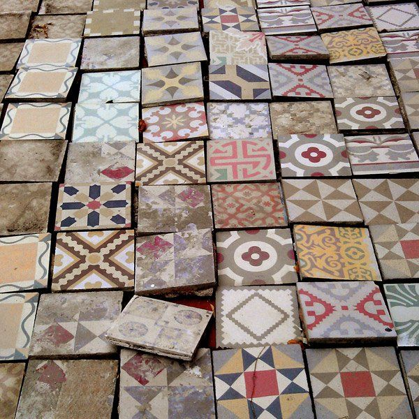 Colorful Cement Tile Paver Vintage Barcelona