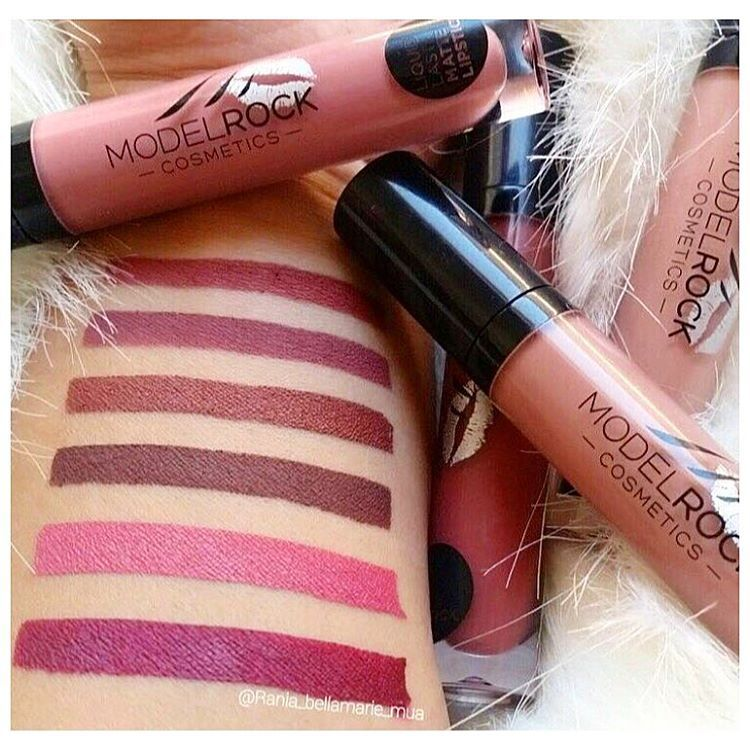 A look at the new line of Liquid to Matte lipsticks by ModelRock. #modelrocklipsticks #liquidtomattelipsticks  #MadameMadeline