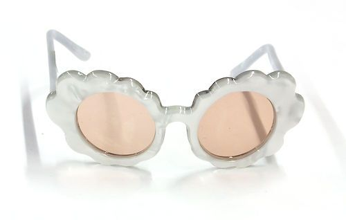 f81ec4d063  375.00 Vintage Paulette Guinet Hand Made Pearlesque Flower Sunglass Frames  1950