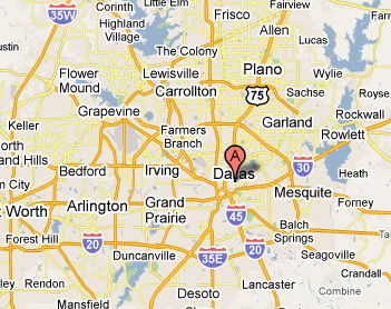 Dallas Area Map including Suburbs DallasareaMappng TX Pinterest