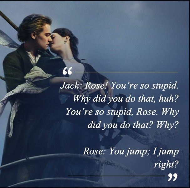 Titanic Quotes Titanic Movie Quotes  Movie Quotes Directors Quotes  Pinterest .