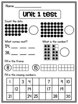 First Grade Math Unit 1: Number Sense, Counting Forward