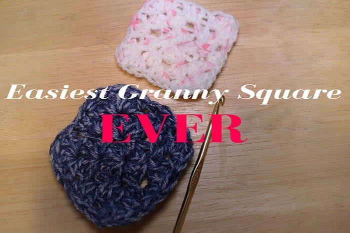 granny square, crochet, crocheting, blankets, granny square blanket, easiest granny square ever  Pattern Here: http://www.kirstenjonorarenfroe.com/easiest-granny-square-ever/