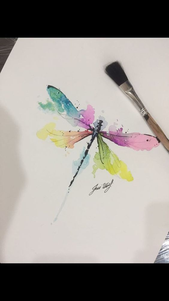 Photo of Watercolor Dragonfly # Watercolor # Dragonfly #Tattoos #Tattoos #diytattoo