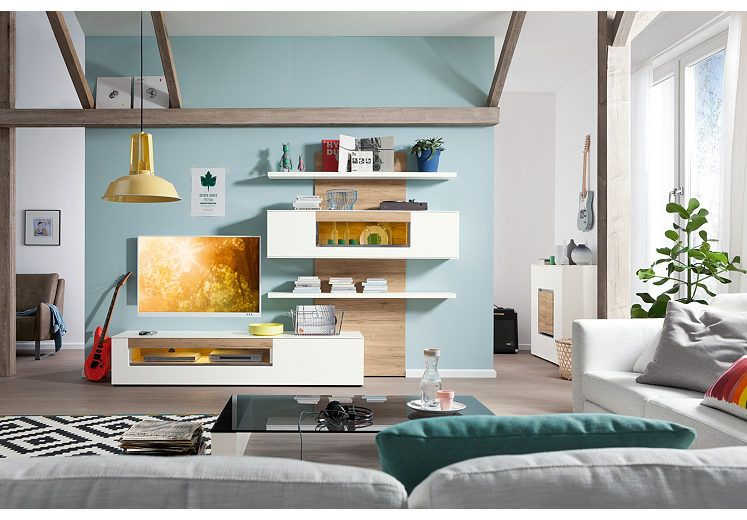 Musterring Wohnzimmermöbel ~ Set one by musterring wohnwand arizona« hochglanz mit