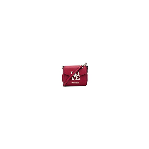 Love Moschino Love Lock Crossbody ❤ liked on Polyvore featuring bags, handbags, shoulder bags, cross body, red crossbody handbags, red crossbody purse, kiss-lock handbags and red shoulder bag