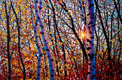 TIM PACKER, Ruby Reds, Batchewana Mountain