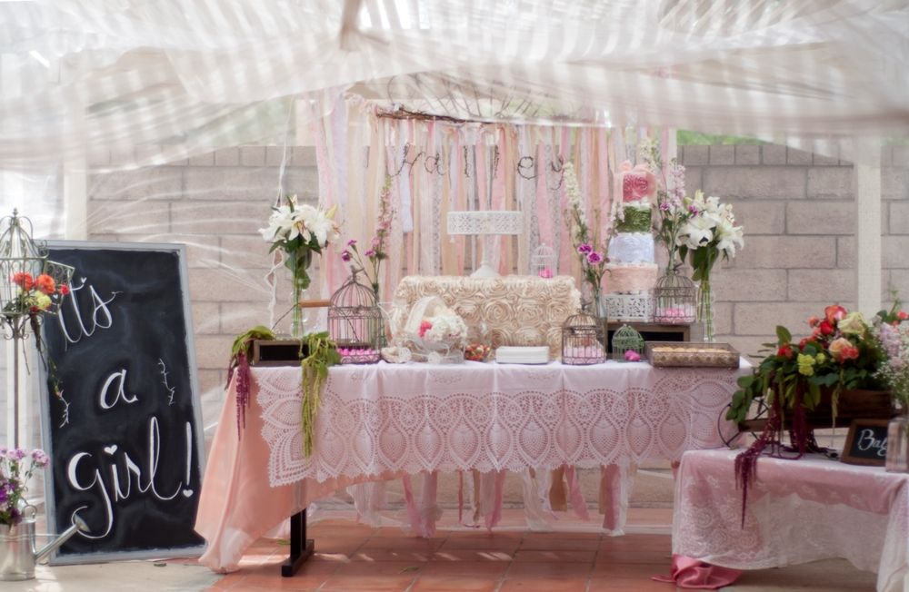 Garden Baby Shower Ideas cake table from a garden party baby shower via karas party ideas karaspartyideascom I Added Vintage Garden Baby Shower Featured Party To An Inlinkz Linkup