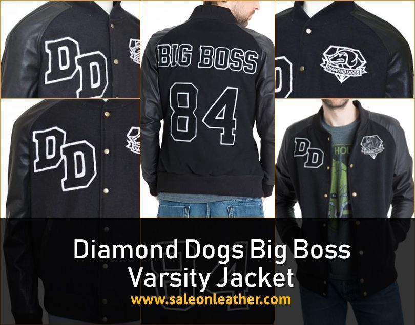 Buy Diamond Dogs Varsity Big Boss Leather Jacket at our online store  saleonleather.com in very low price with free wor… | Boss leather jacket,  Diamond dogs, Jackets