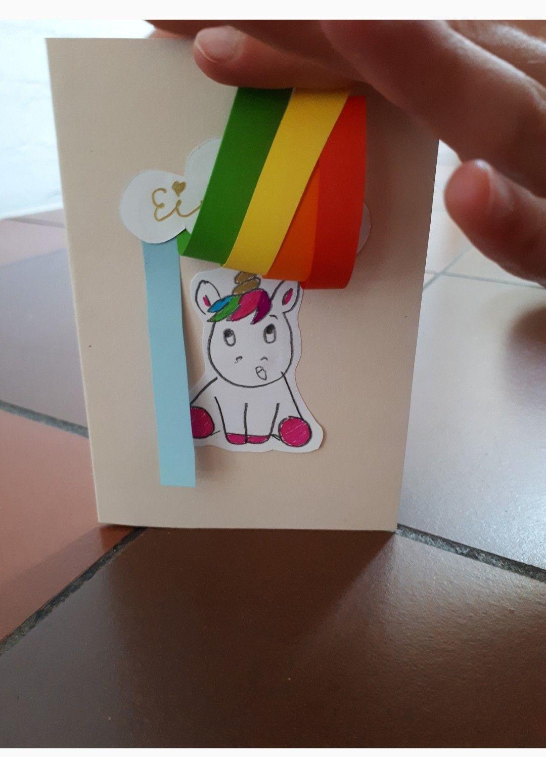 Photo of Unicorn rainbow invitation hiding place