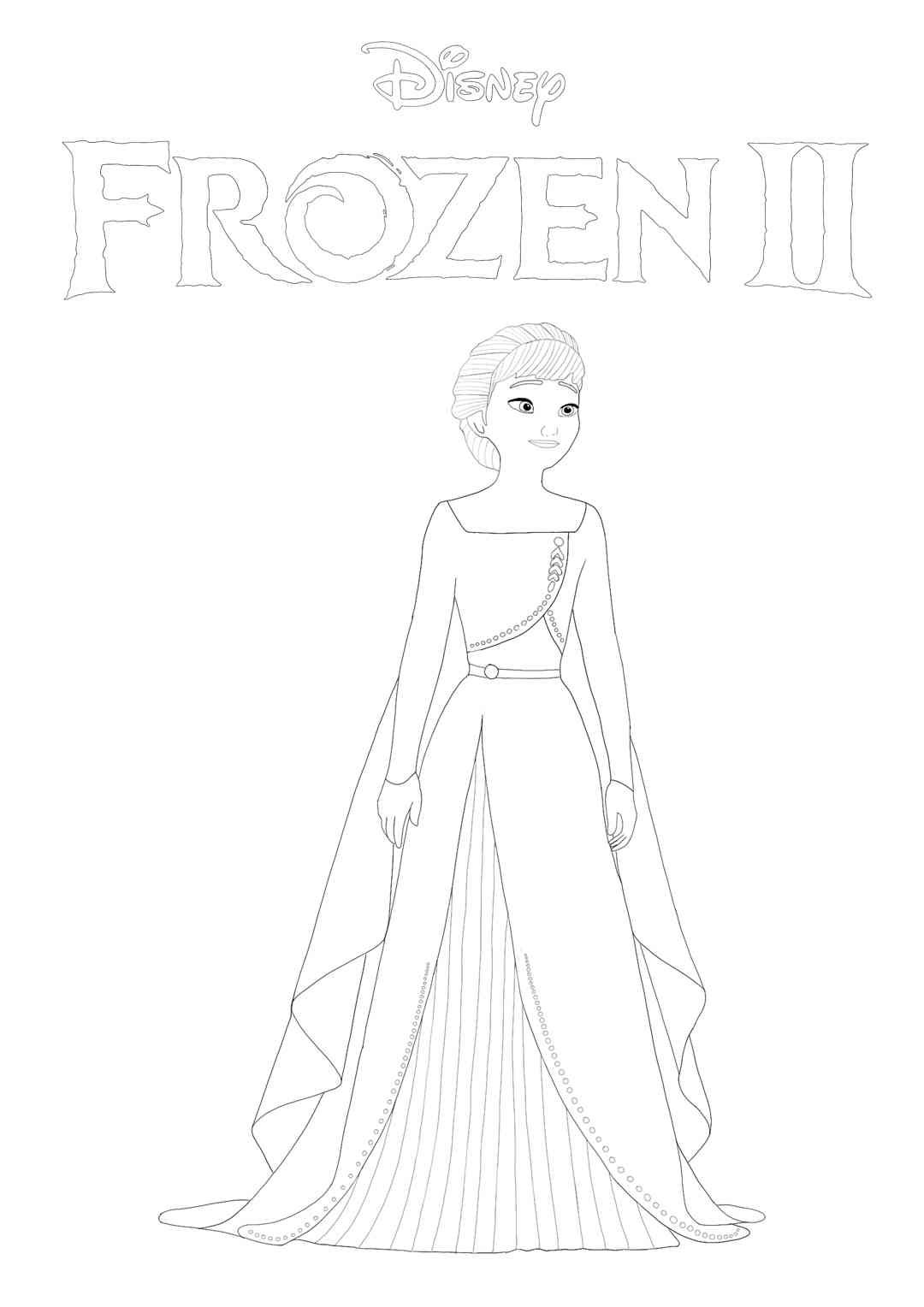 Frozen 2 Anna Coloring Page Rapunzel Coloring Pages Free Printable Coloring Sheets Elsa Coloring Pages